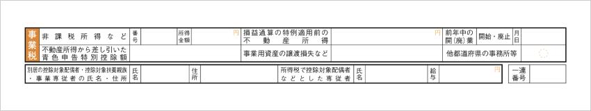 令和元年分以降用 確定申告書B 第二表「住民税・事業税に関する事項」 - 事業税