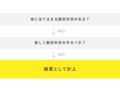 勘定科目「雑費」は最終手段!
