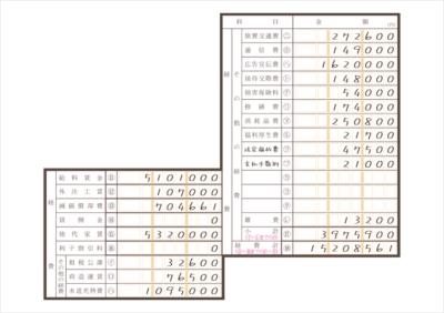 令和元年分以降用 収支内訳書 経費 記入例