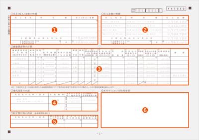 令和2年分以降用 収支内訳書2ページ目 記入例(全体)