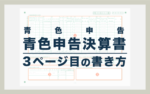 青色申告決算書の書き方・記入例【3ページ目】