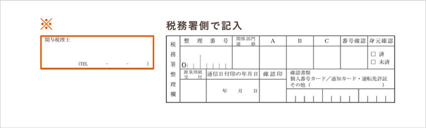 開業届 関与税理士の情報 記入欄