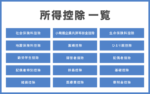 個人事業主の所得控除【一覧表】