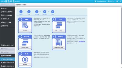 弥生 白色申告から青色申告への移行画面