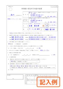 青色申告承認申請書(記入例)