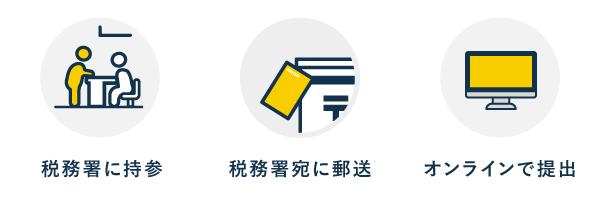 3種類の提出方法 - 青色申告承認申請書